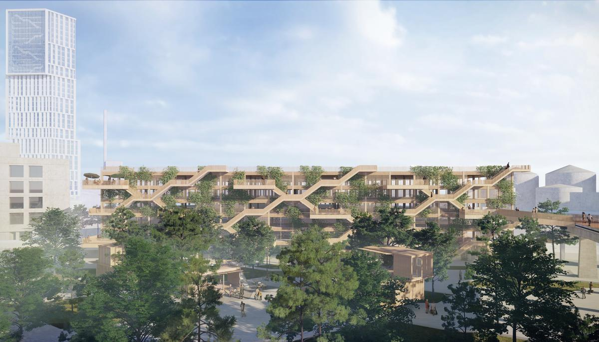 The car-park is designed to play an active role in the development of Aarhus in the future / JAJA Architects + Open Platform