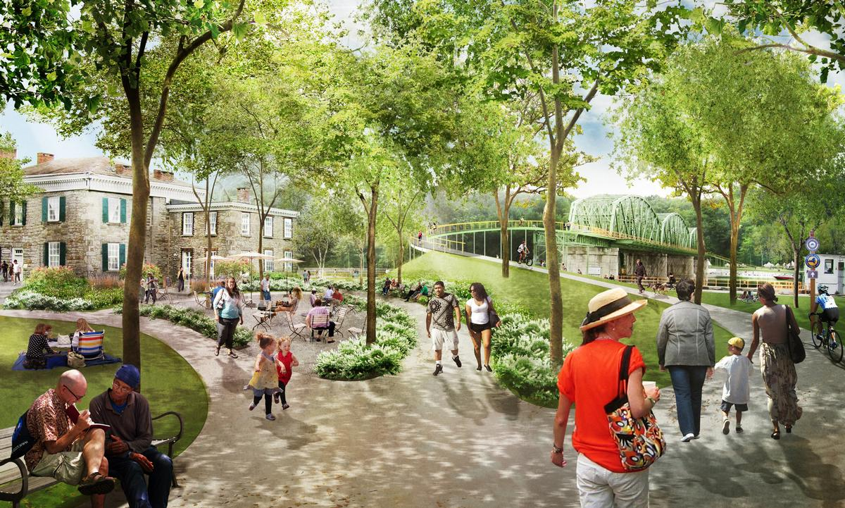 Former industrial property will be redeveloped to create a pocket neighbourhood offering '21st-century canalside living' / BuroHappold