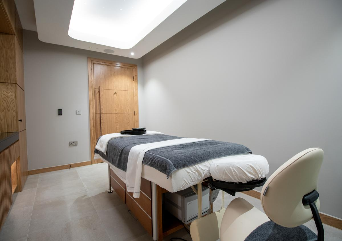 The spa includes 14 treatment rooms