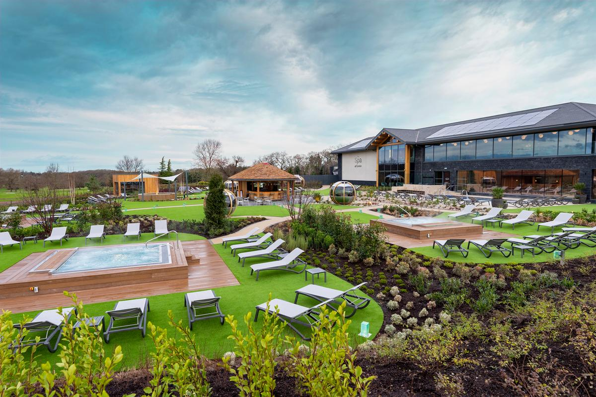 The spa garden is claimed to be one of the largest of its kind in the UK