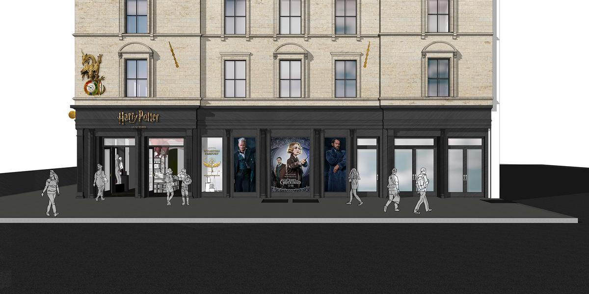 The Harry Potter New York store will encompass 20,000 sq ft of space across three floors / Warner Bros