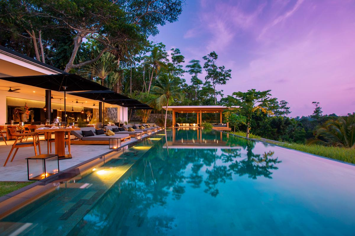 The recently opened Haritha Villas + Spa is an adults-only boutique resort located in Southeastern Sri Lanka