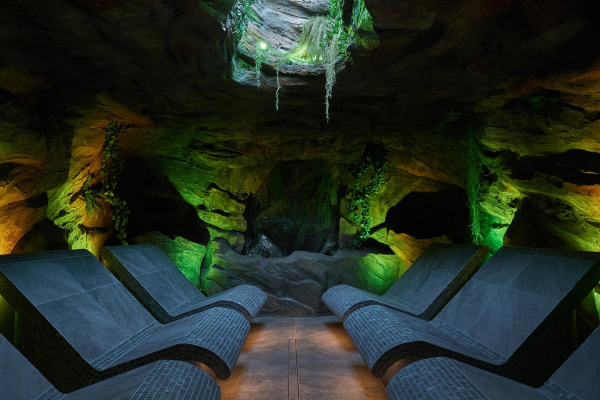 The spa includes an exclusive Forest cavern experience