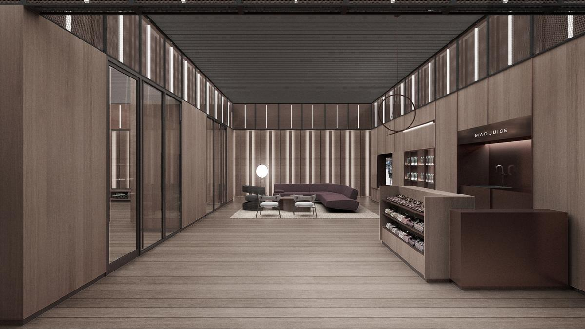 There will also be treatment rooms, a meditation room and a juice bar / Rockwell Group