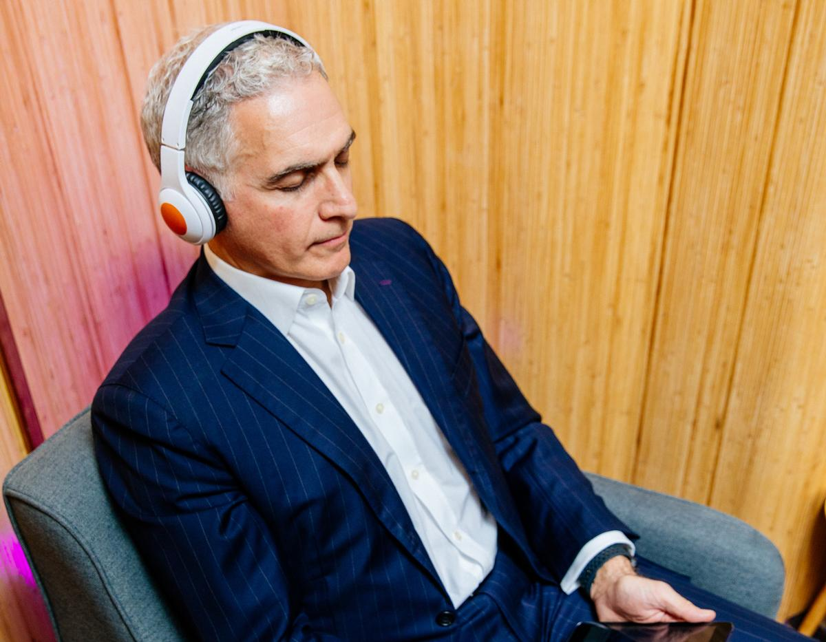 Hyatt CEO Mark Hoplamazian enjoying his access to Headspace