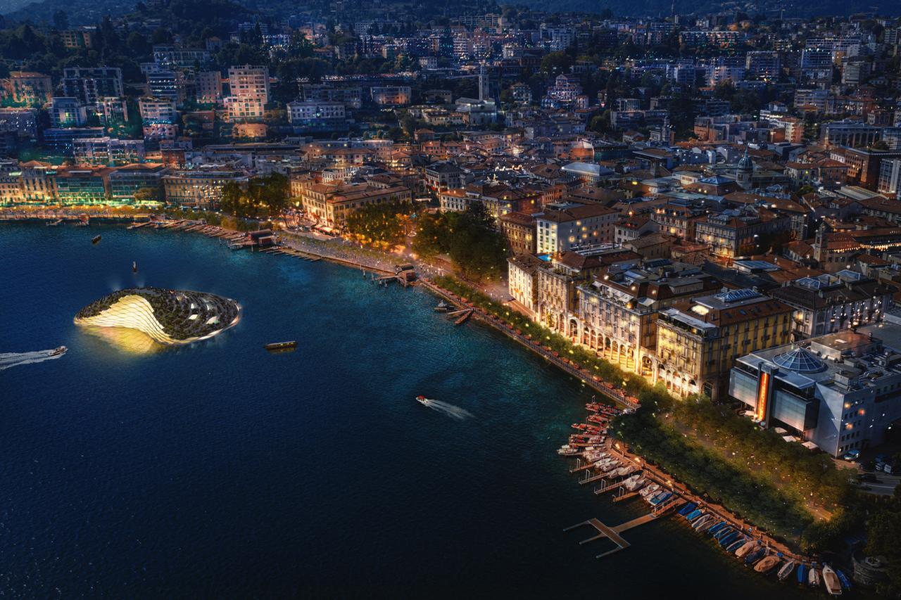Lugano's waterfront is situated between the Swiss Alps and Lake Lugano / Carlo Ratti Associati