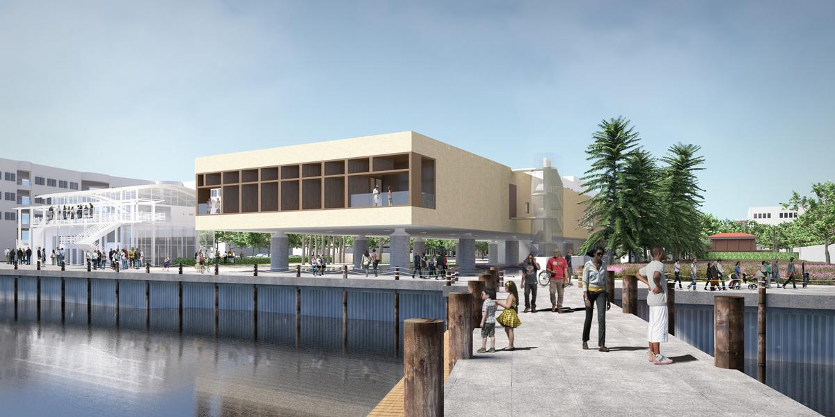 The museum will cover an area of 41,800sq ft (3,900sq m) / Pei Cobb Freed & Partners