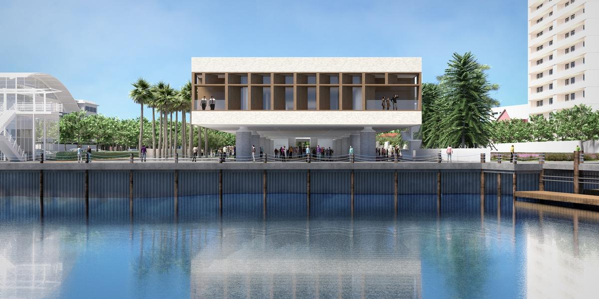 The museum is being constructed on Gadsden's Wharf in Charleston, South Carolina / Pei Cobb Freed & Partners