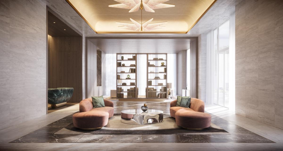 A grand entrance lobby provides a sense of arrival