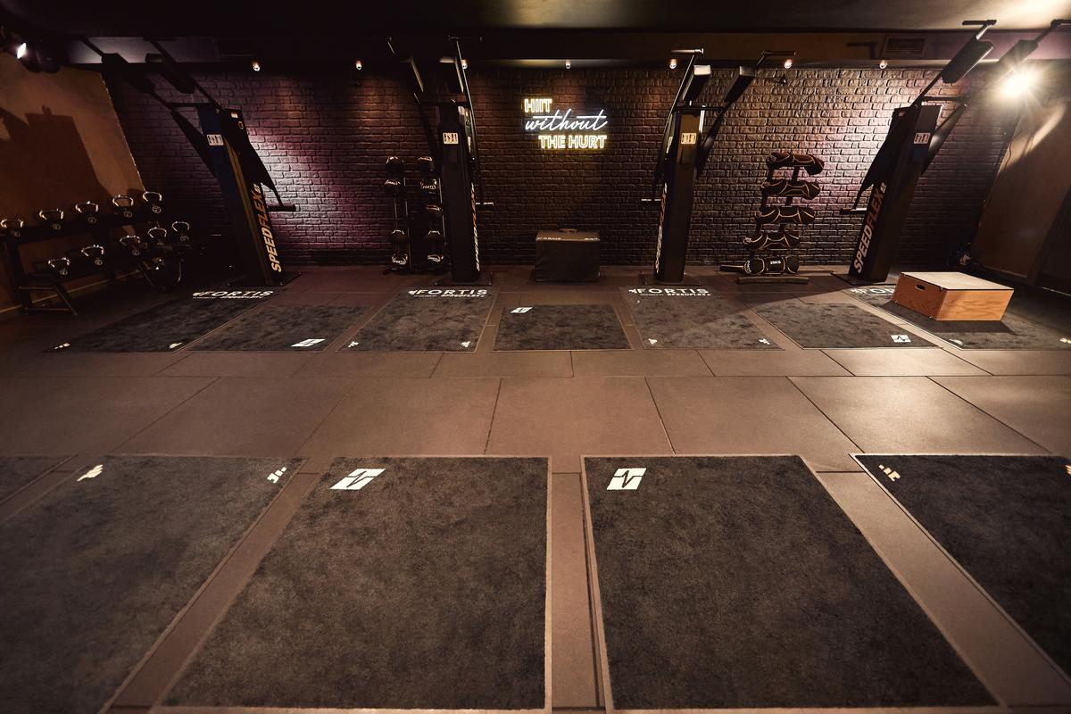 Machines are laid out around the perimeter of the room for easy circuit use during classes / Action PR