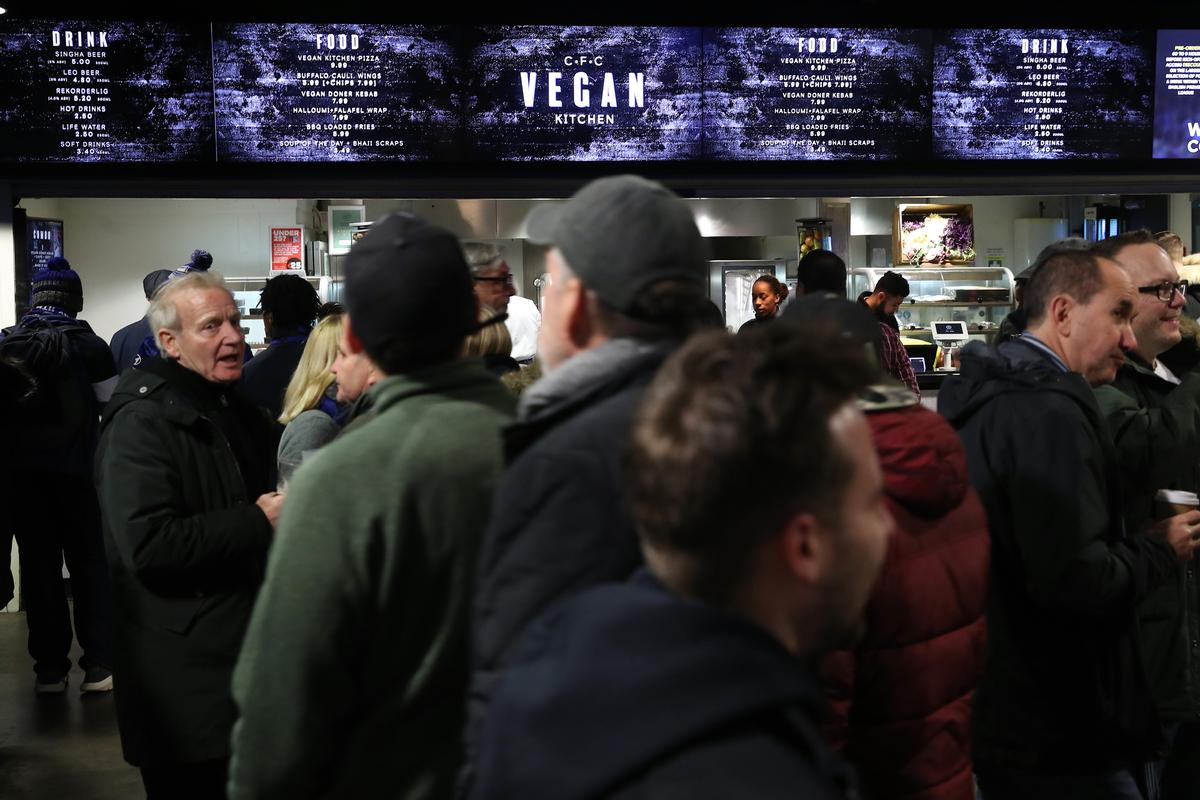 The CFC Vegan Kitchen at the club's Stamford Bridge stadium will provide a range of plant-based alternatives for fans on match days / Chelsea FC/Levy UK