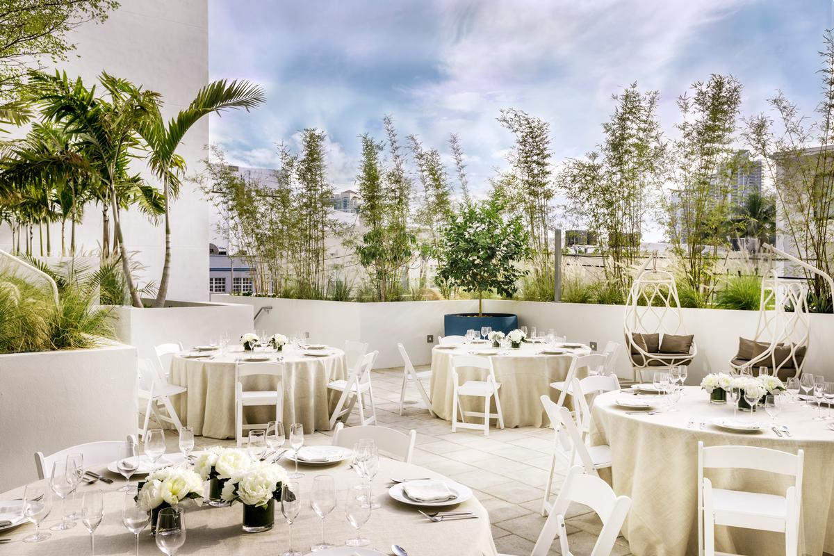 A meeting room, a terrace and a deck can all be used for functions and events