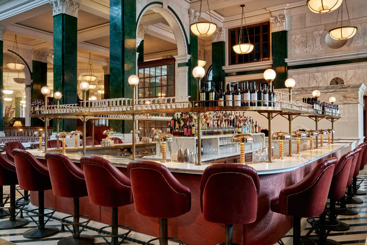 Nulty's work at the Ned hotel complements the branding of each space / The Ned