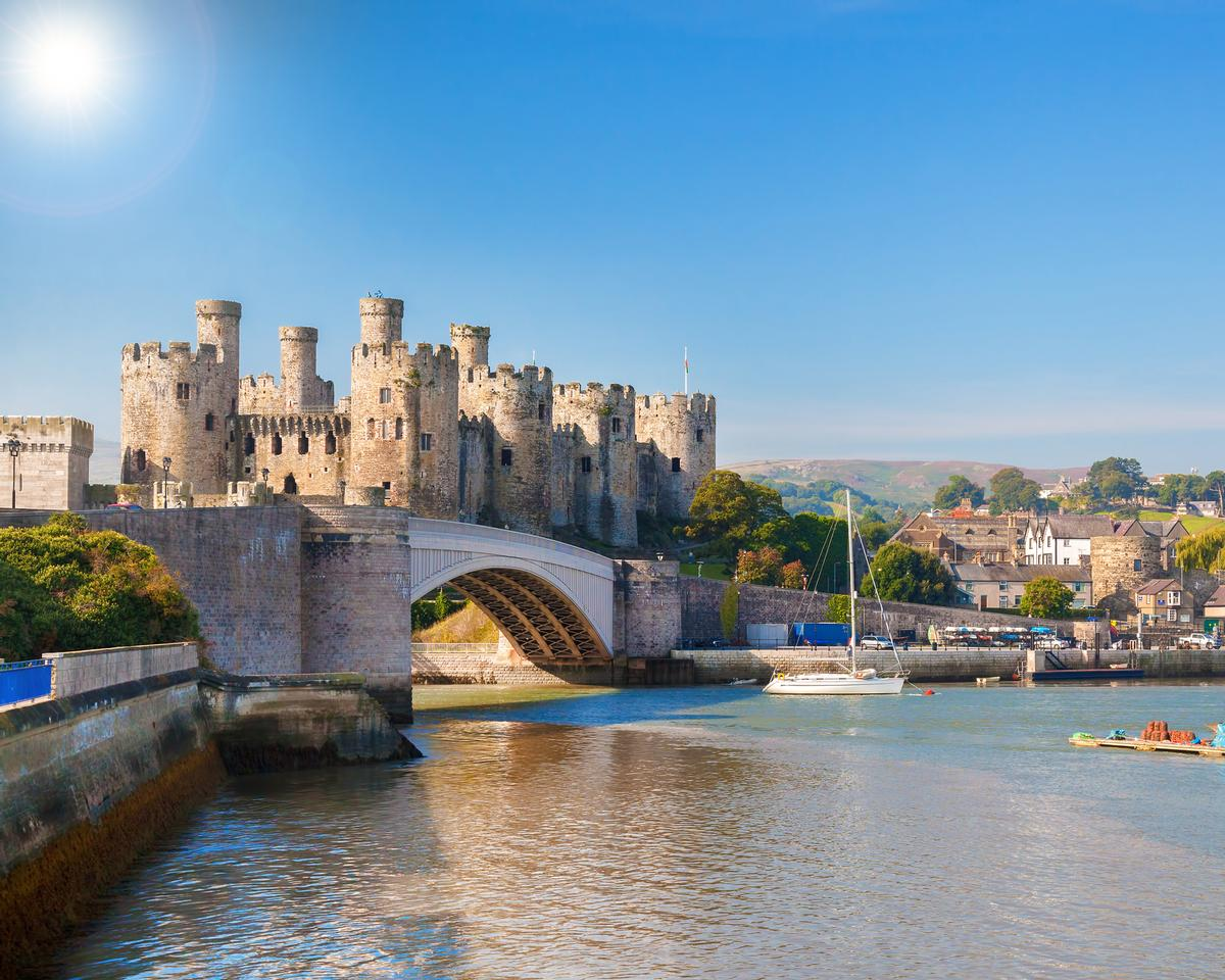 Conwy Castle in North Wales attracts more than 200,000 visitors per year