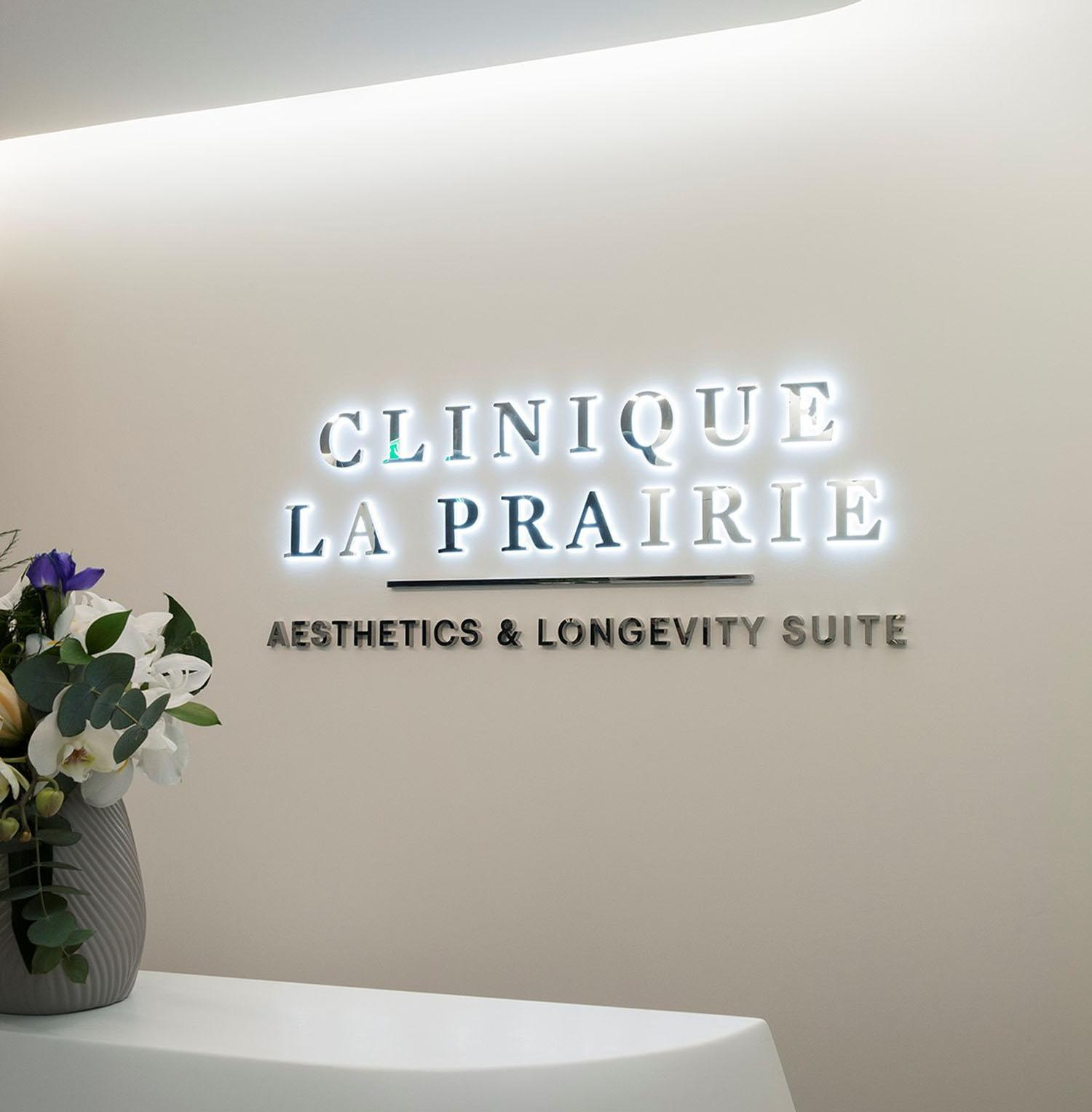 The medi-spa is called Clinique La Prairie – Aesthetics & Longevity Suites