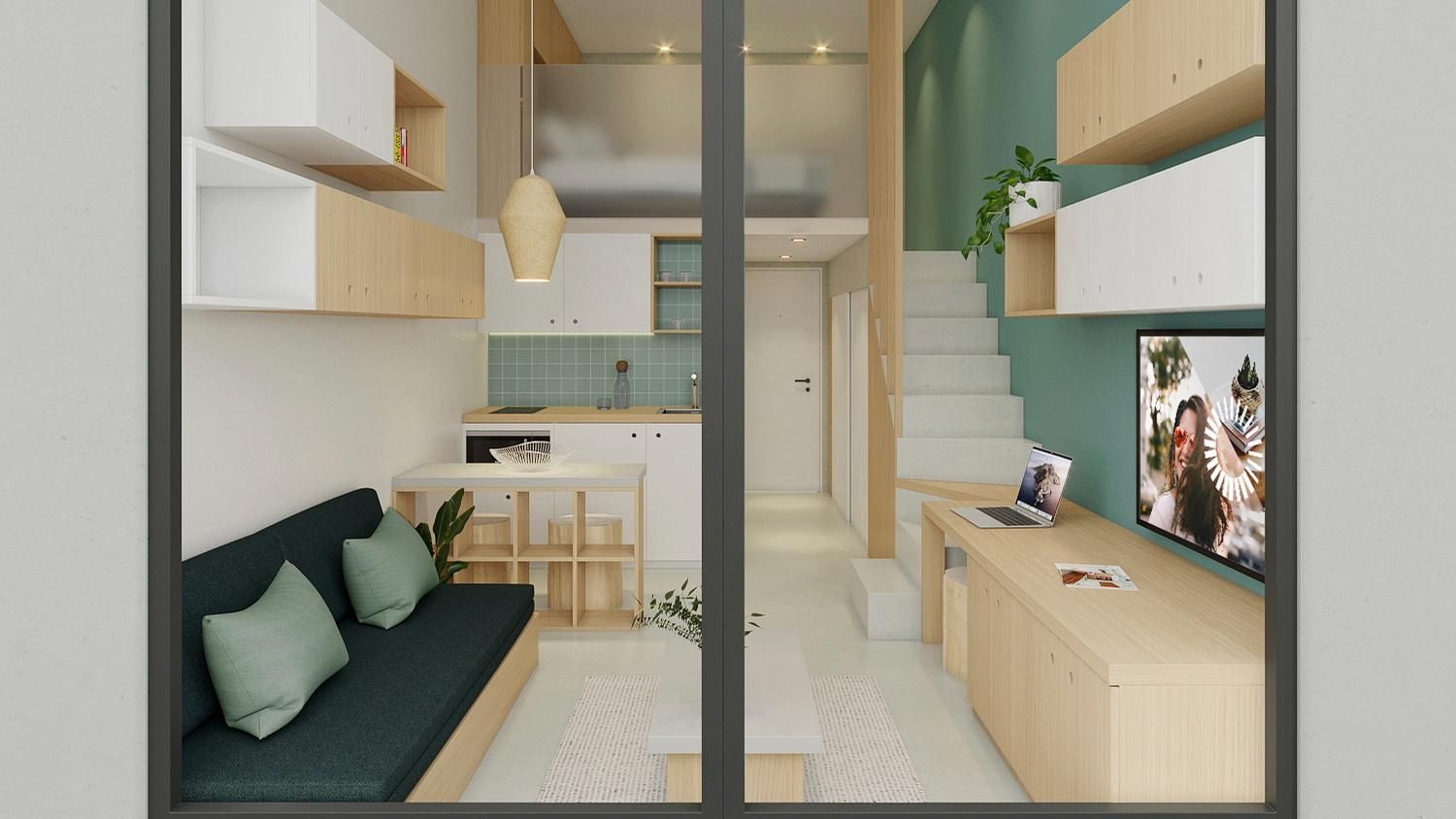Room configurations vary depending on the needs of occupants, with bespoke furniture designed to make the best of space / PriestmanGoode