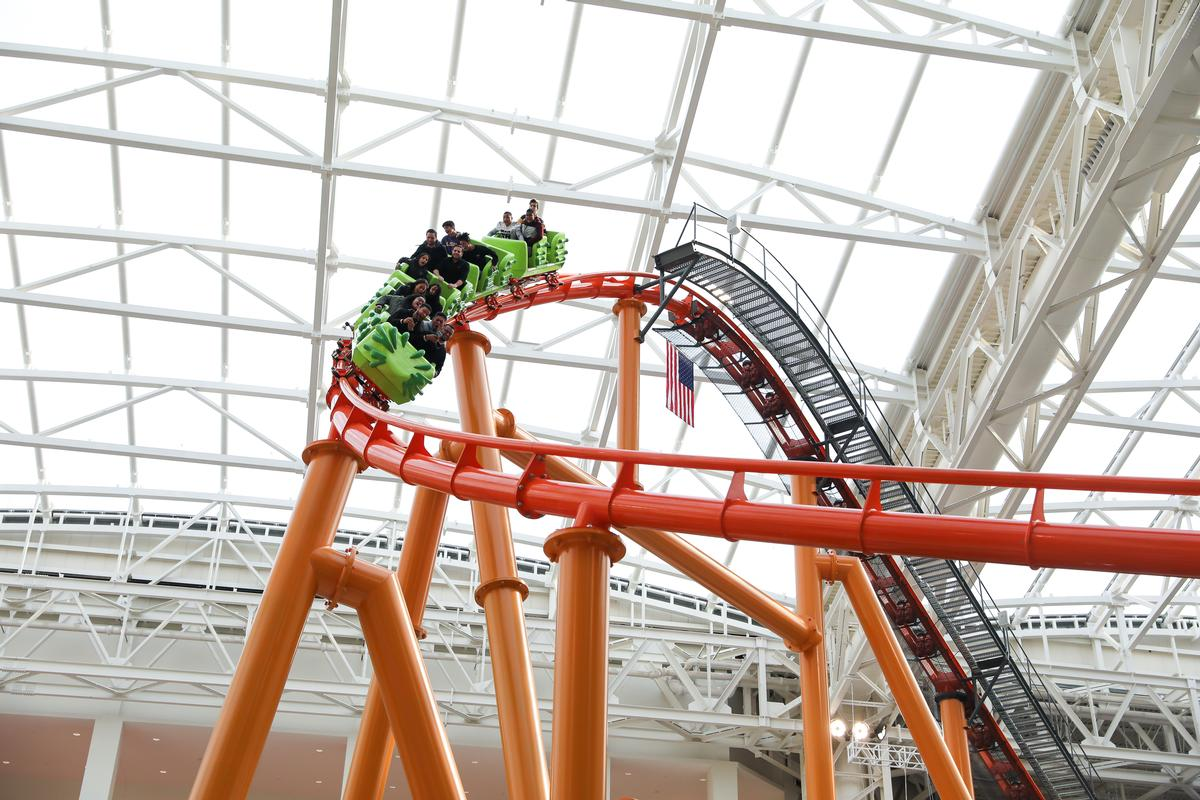 Nickelodeon Universe Theme Park is claimed to be the largest indoor theme park in the Western Hemisphere / Angela Pham, courtesy of American Dream