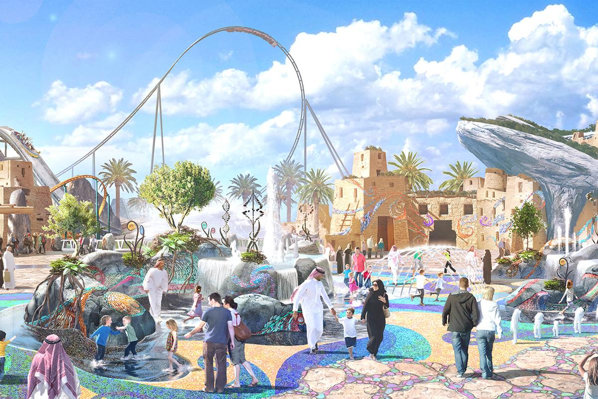 Six Flags is to open a theme park at the centre of the Qiddiya resort / Qiddiya