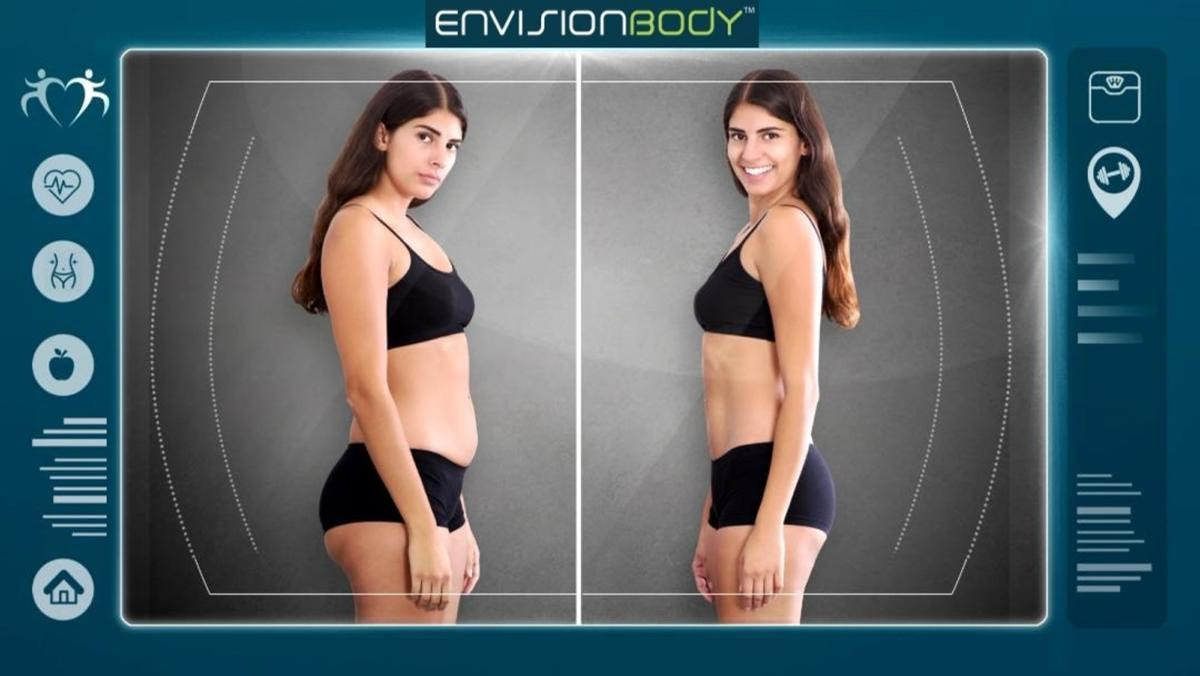 EnvisionBody uses optical tracking to capture the user's image, then processes it through an AR application / EnvisionBody