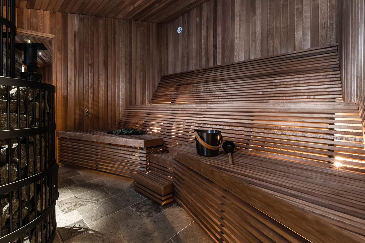 There are three different saunas for visitors to make use of / Daniel Holmgren