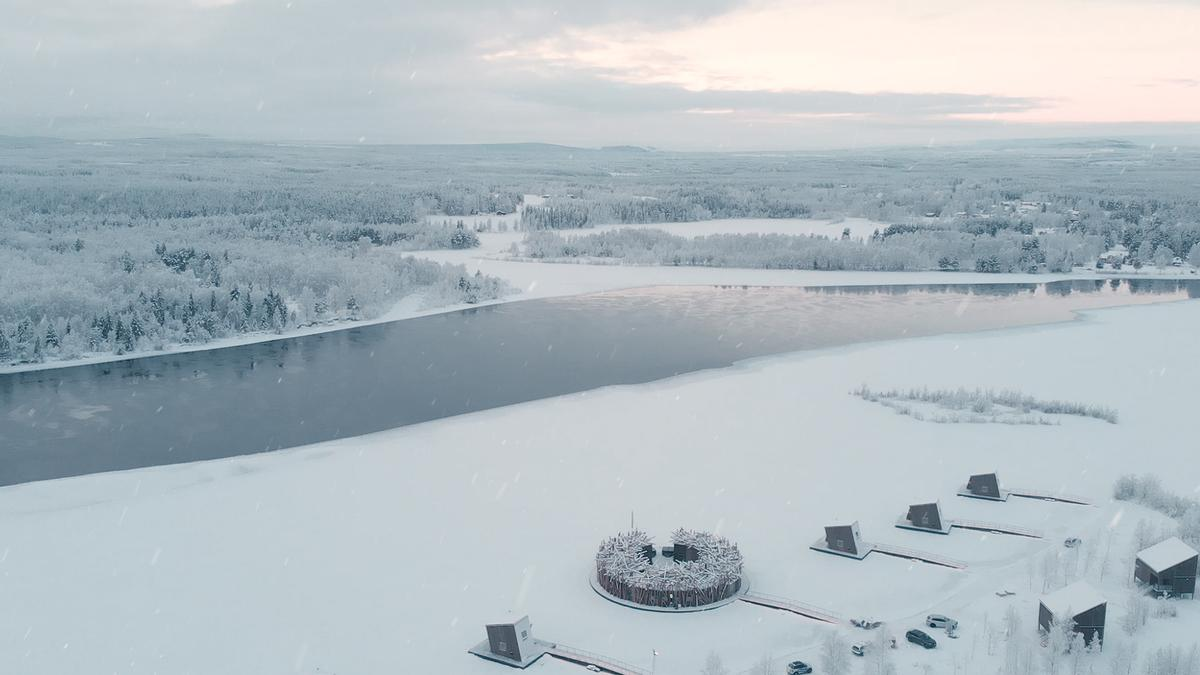 The spa hotel is located on the Lule River near the small village of Harads in Swedish Lapland / Pasquale Baseotto
