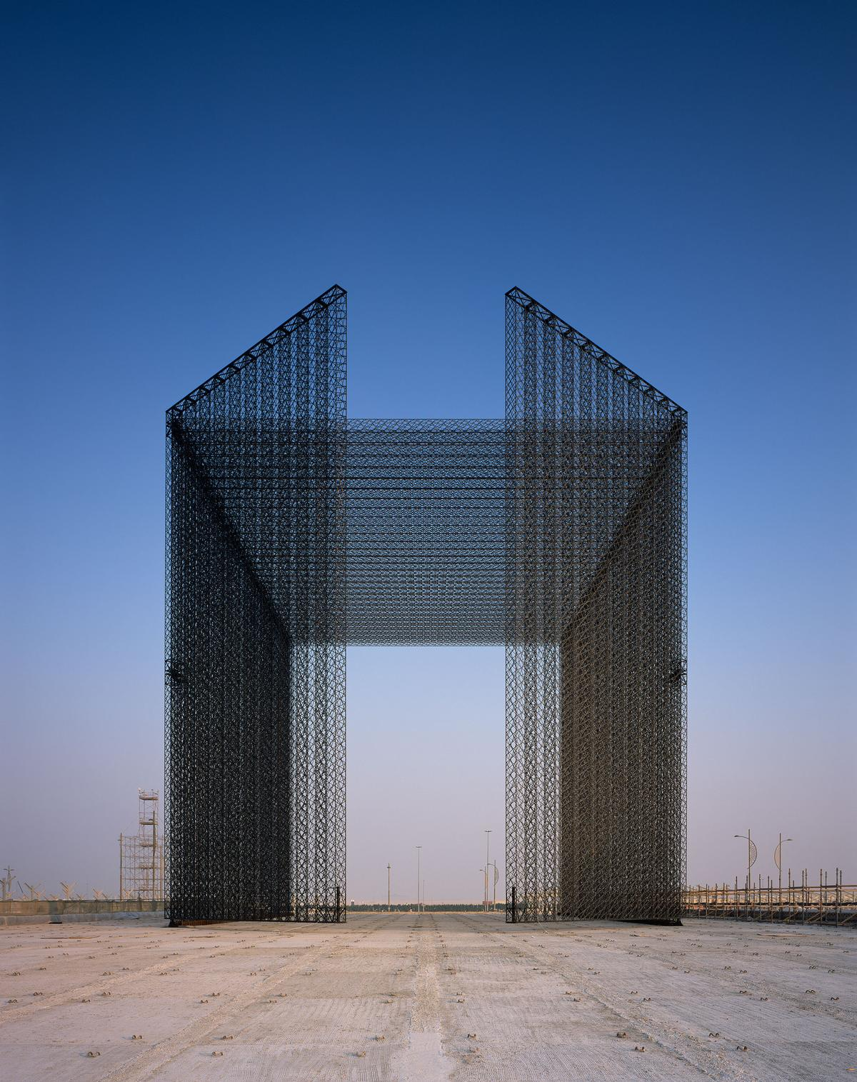 The portals feature two large doors each measuring 21m (69ft) high and 10.5m (34ft) wide / Helene Binet