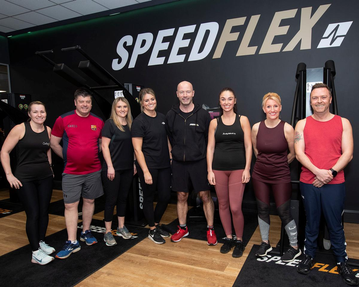 Footballing legend Alan Shearer opened the new Speedflex Studio at Gateshead International Stadium