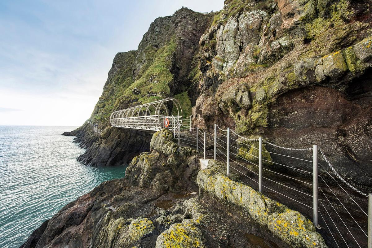 Visitors can get close to the geology and biodiversity of the area / The Gobbins