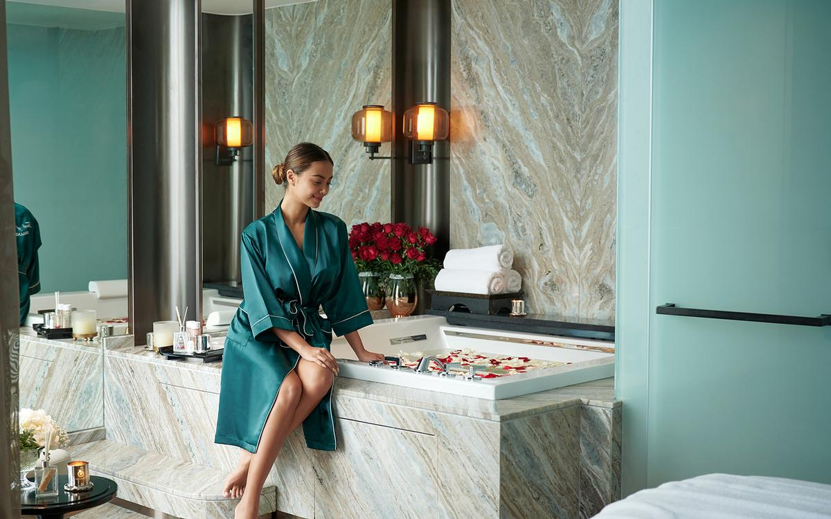 The spa's signature 90-minute journey – called The Organika Aromatic Candle Massage – uses pure essential oils, soy butter, jojoba and vitamins A and E