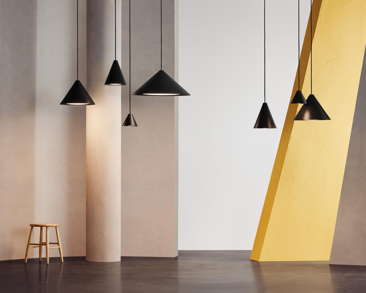 The Keglen collection is made up of four different pendants