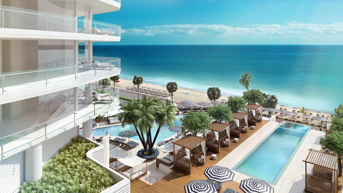 The development has been designed by architect Kobi Karp with interiors by Tara Bernerd to 'reflect the very best of beachfront living' / Four Seasons