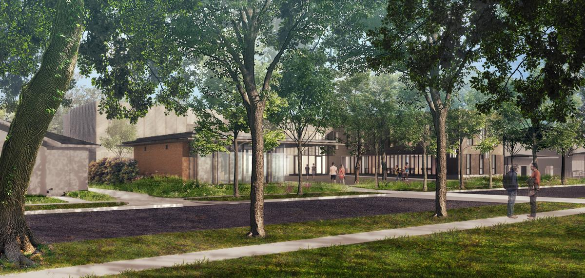 There will also be a newly developed administration and archives building, meditation garden and programme centre / Architecture Research Office