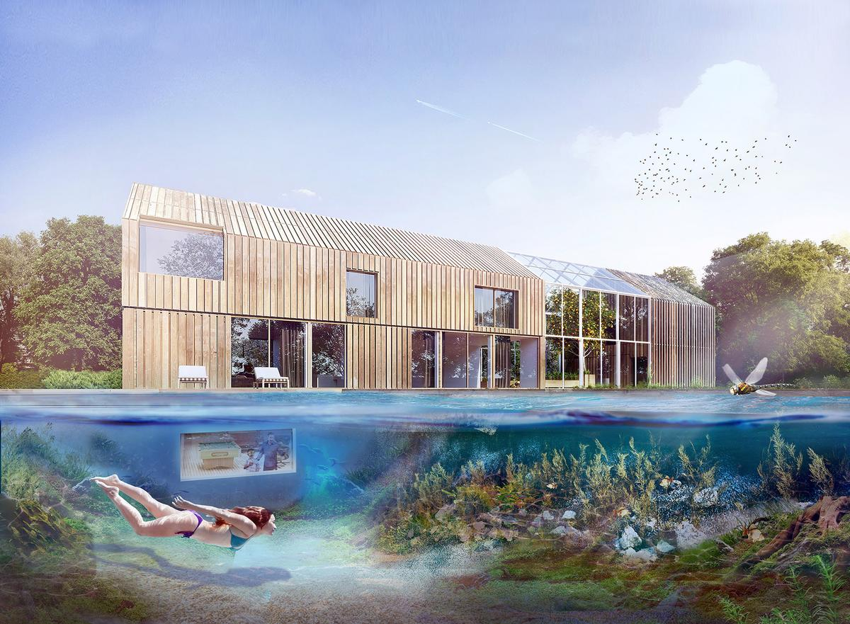 The pond also provides a natural swimming pool / BXBstudio Bogusław Barnaś
