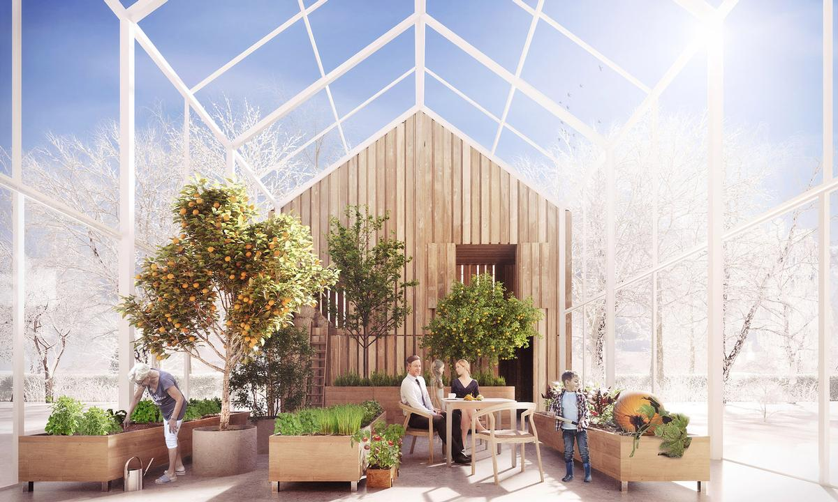 The greenhouse allows for the year-round cultivation of plants and food / BXBstudio Bogusław Barnaś