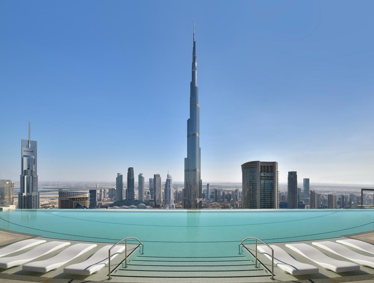 The 1,400sq m Address Sky View spa was created by GOCO Hospitality's design team