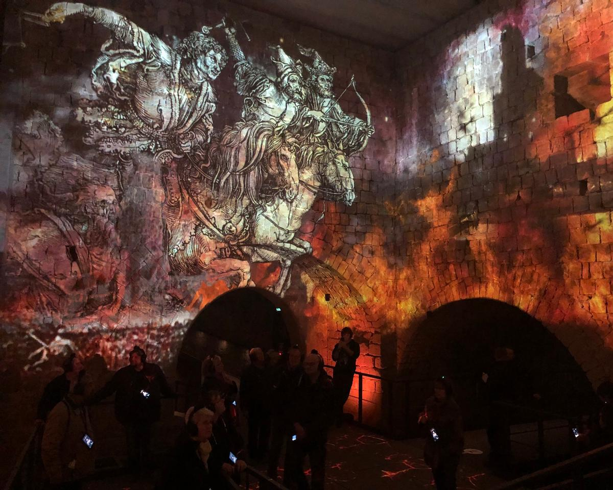 The experience features elaborate projection mapped displays powered by 29 projectors