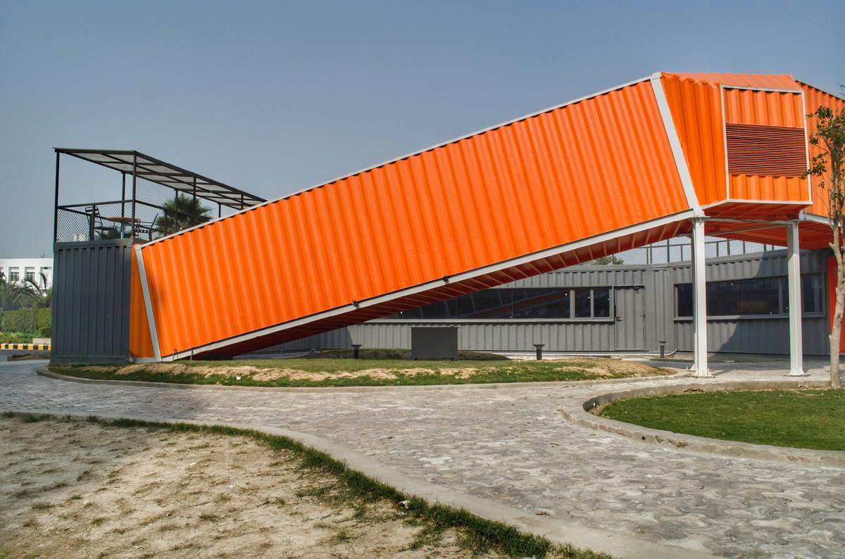 Inclined and raised sections are used to created the shape / Rahul Jain