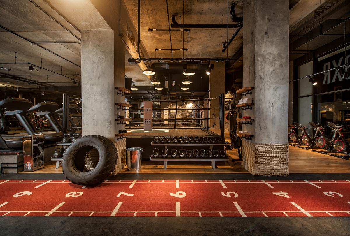 The 14,000sq ft (1,300sq m) gym will be larger than the pictured 12,000sq ft (1,100sq m) Marylebone site / Bergman Interiors