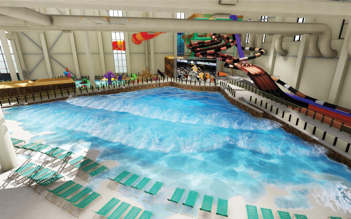 The indoor water park will be America's largest, beating Kalahari's Pocono Mountains in Pennsylvania