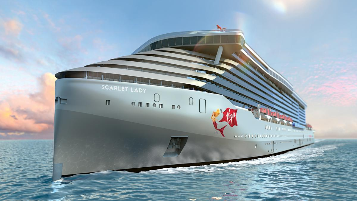 The ship weighs in at 60,000 tonnes (66,000 tons) / Virgin Voyages