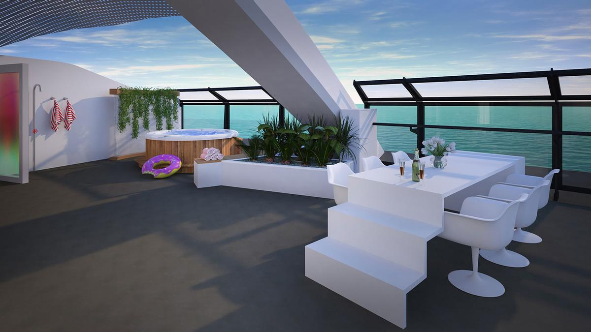 86 per cent of Virgin Voyages cabins will feature a balcony / Virgin Voyages