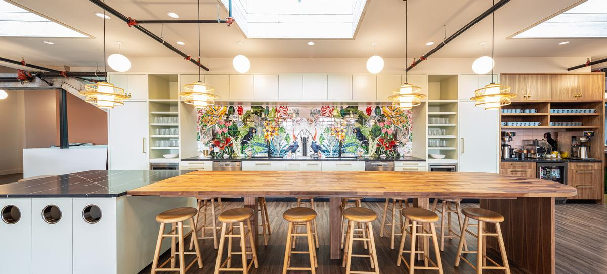 A large communal kitchen provides a space for socialising and informal chats / James Jones