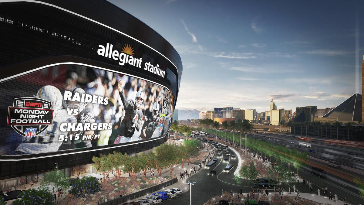 The stadium will be home to the relocated Raiders NFL team / Manica