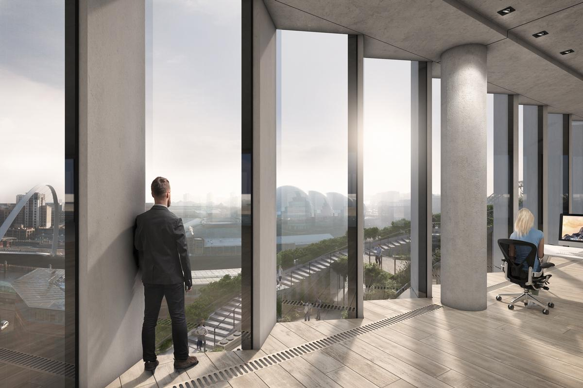 There will be views of the rooftop park from within the building / Bjarke Ingels Group