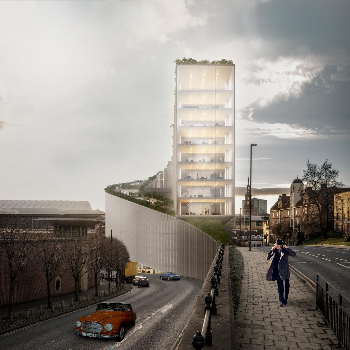 The building will have a slender form of just 13m (43ft) in width / Bjarke Ingels Group