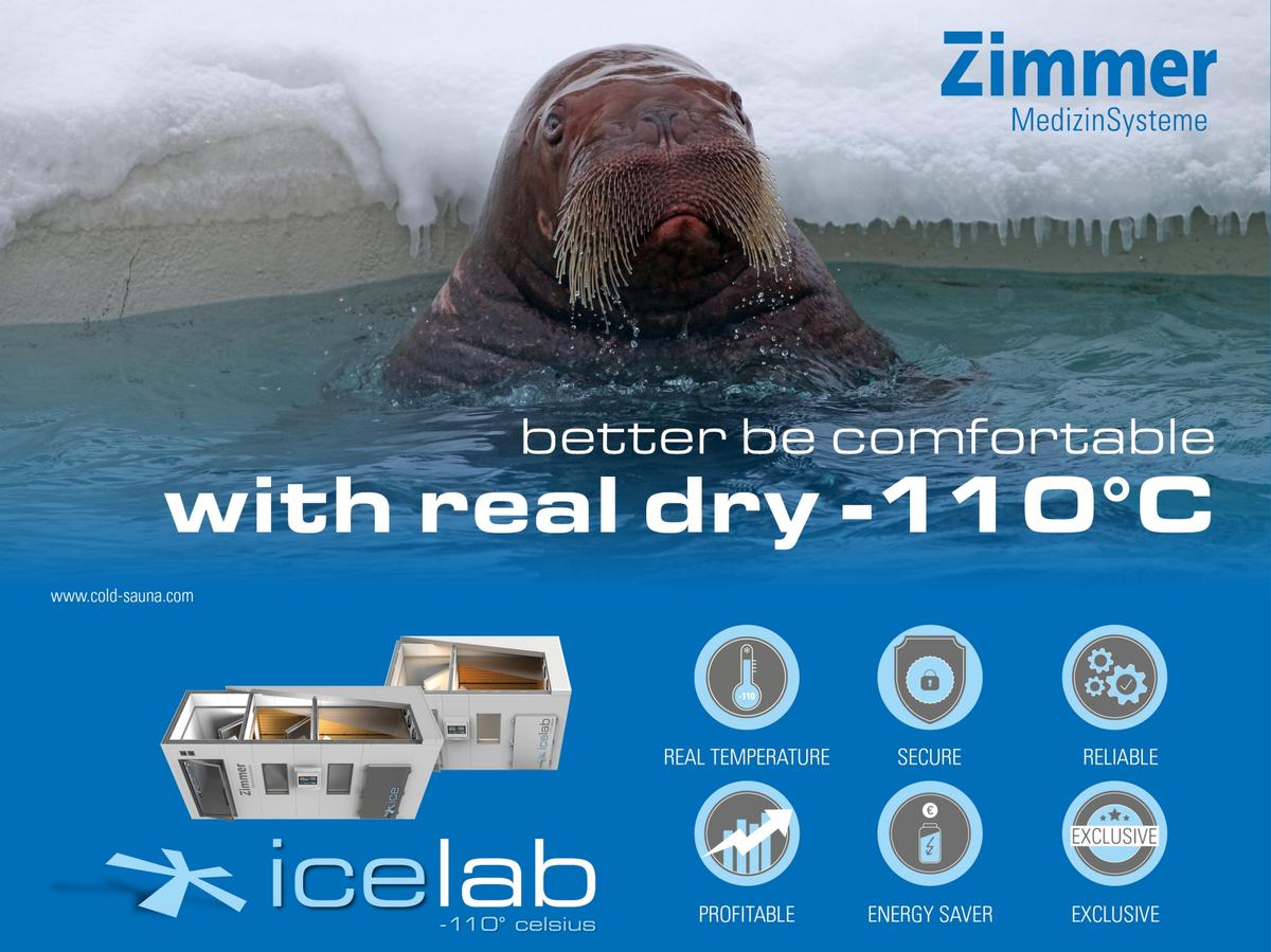 Zimmer's wholebody cryotherapy can be be offered on its own, combined in spa menu packages or within fitness, sports and leisure packages