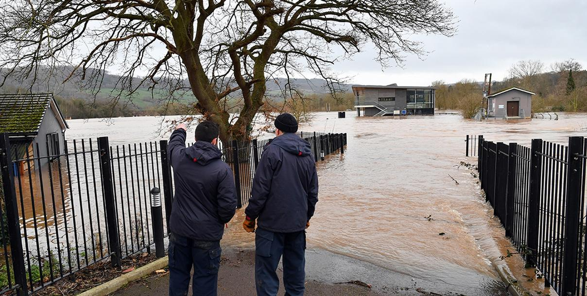 Many grassroots facilities are vulnerable to flooding in England, as many of them are located on flood plains / Sport England