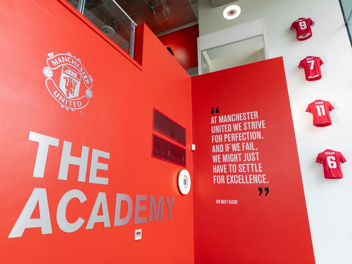 The club's youth academy is widely recognised as among the best in professional football / Manchester United