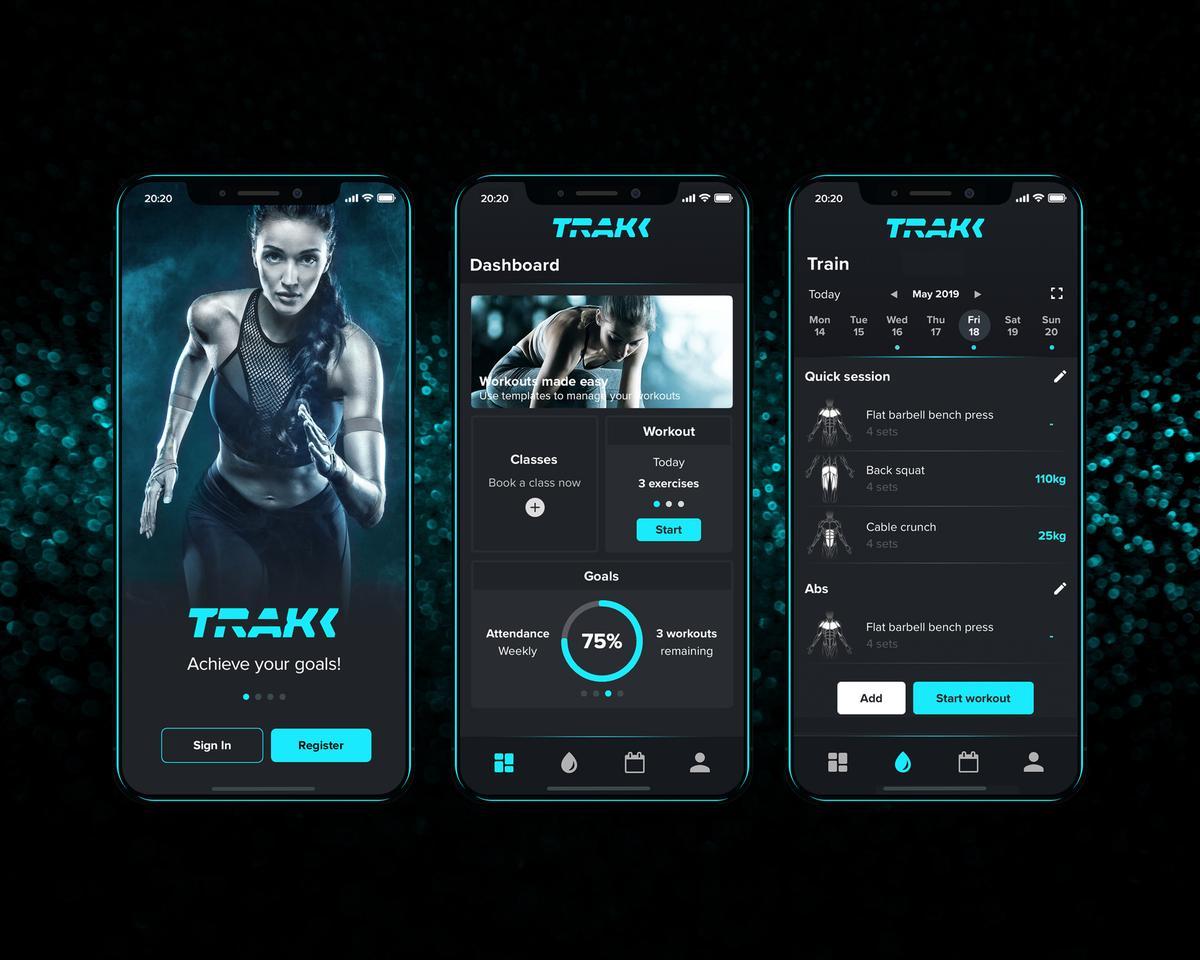 Pulse's TRAKK app is billed as the 'ultimate personal training tool'