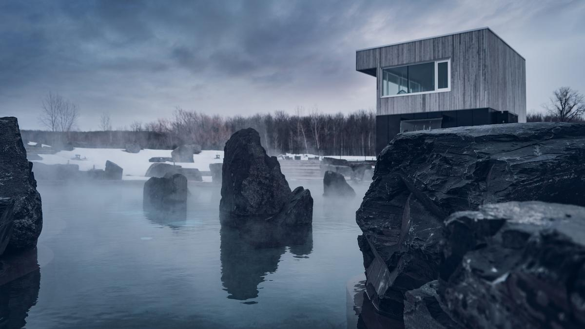 The Piterak experience consists of three outdoor Icelandic thermal pools which range in temperature from temperate, to hot, and very hot